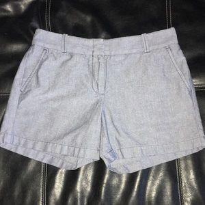 EUC J Crew Blue Chambray Shorts Size 4